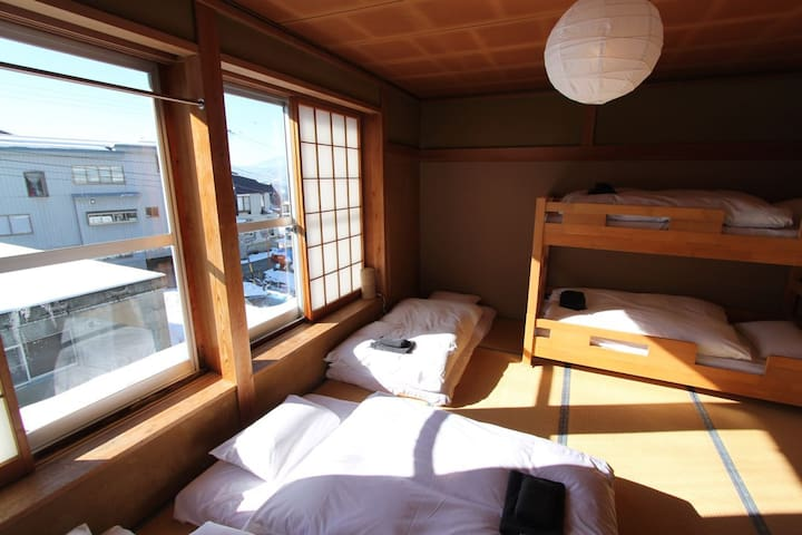 Larger family room Kaiya Nozawa Lodge up to 5 beds