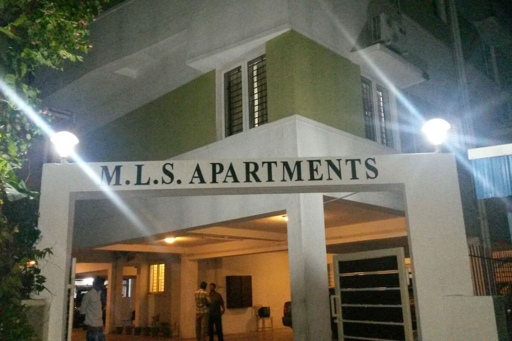 Night View with LED Lights on the arch of MLS Apts