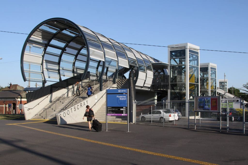 Footscray Station which includes easy access to the city (10 minutes train ride), Williamstown, Werribee and Sunbury train lines