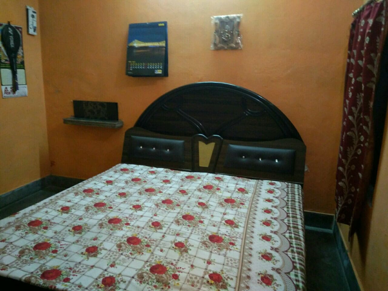 Double Bed with cubord in private room