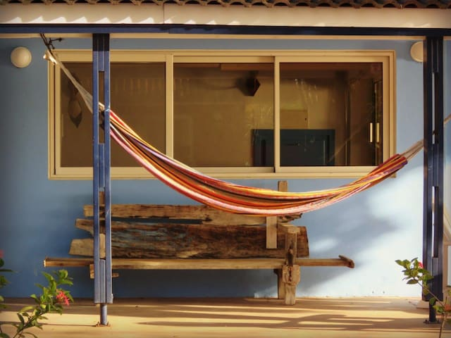Casa Topana has 2 hammocks for you to relax in.