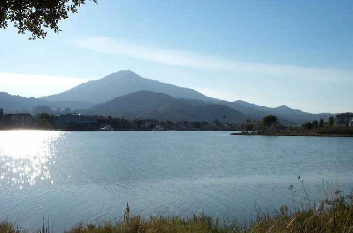 Beautiful condo on the water looking at Mount Tam - Larkspur - Appartement