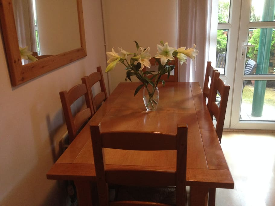 The Dining Table in the Living Room