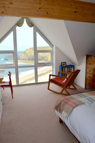 Beachside sea view lux ensuite, Portreath Cornwall - Portreath - Rumah