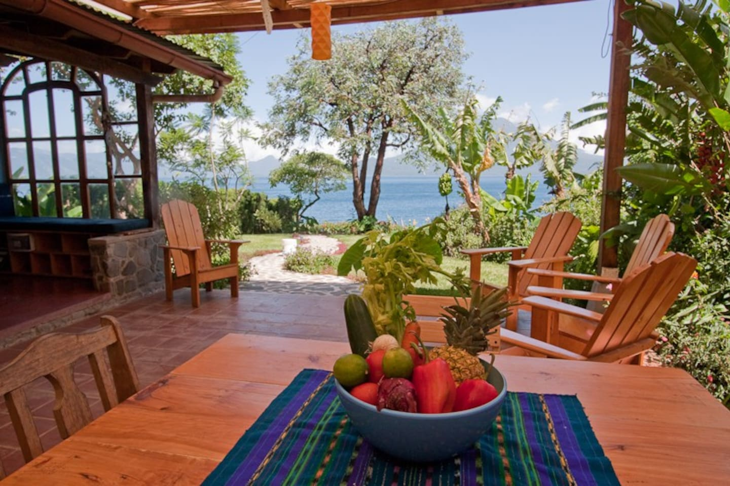 Covered patio has best views of Lake Atitlan, and is where you will spend most of your time.