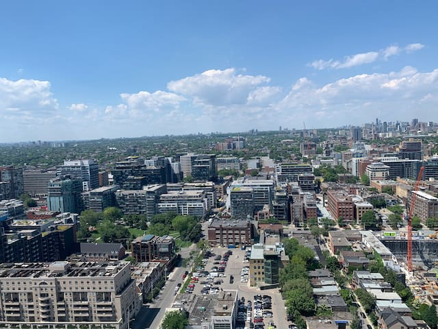 View from the 39th floor of Downtown Toronto