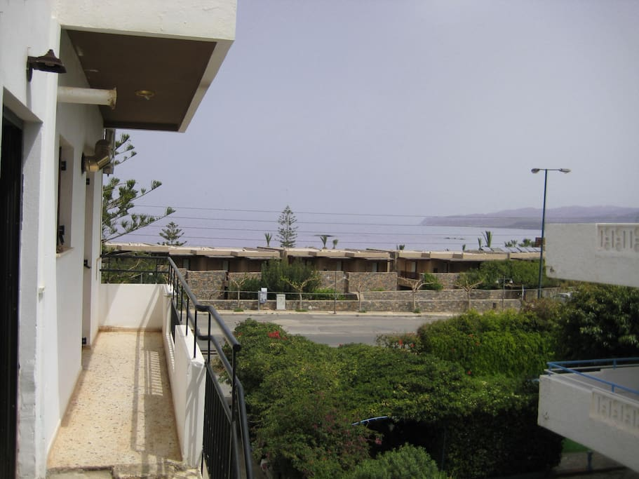 View from kitchen's window. Beach is 5 minutes walking, away!