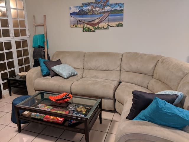 Living room with comfy sectional