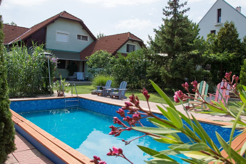 Garden with pool