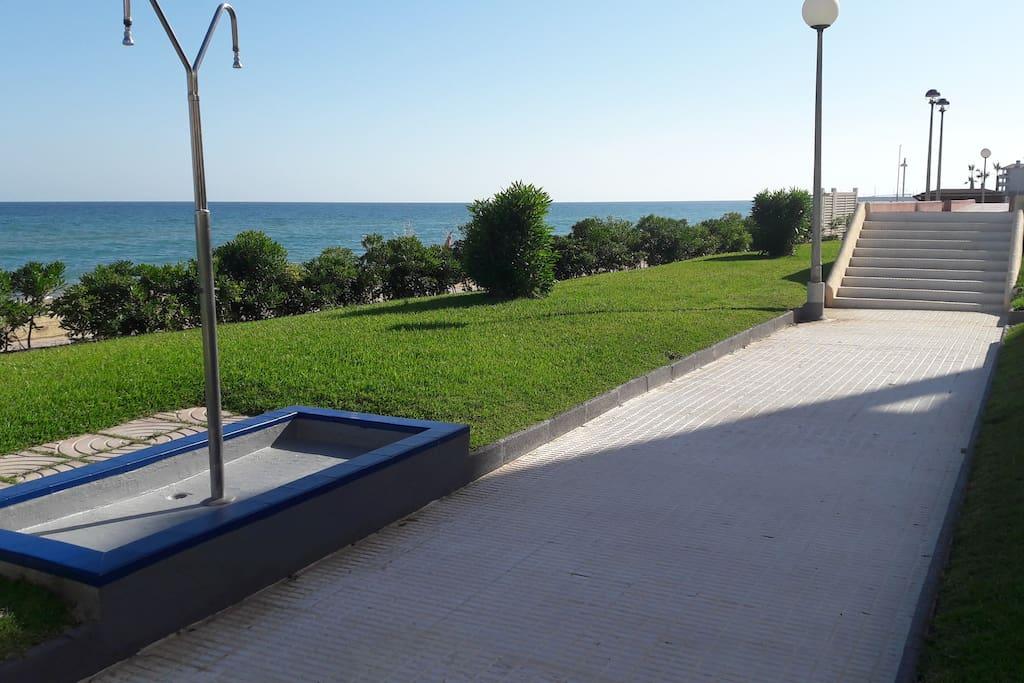 El accesso directo a la Playa  / Der direkte Strandzugang