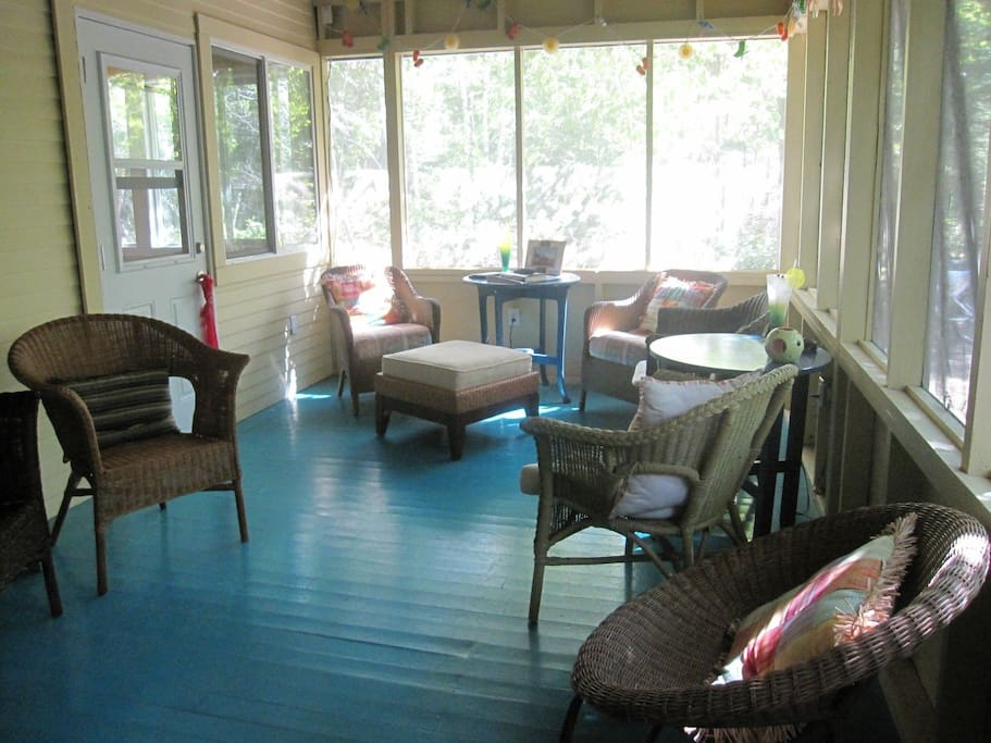 Screened in veranda