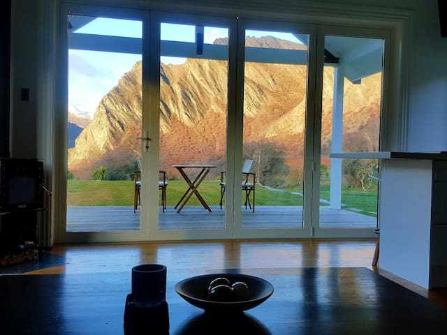 Stunning mountain view from the living room