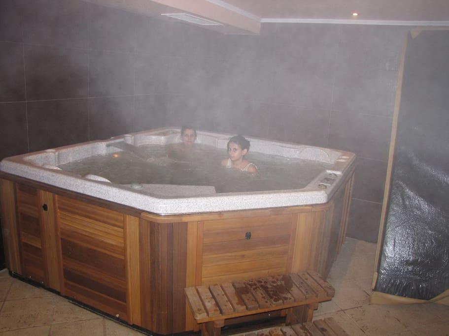 This is our 8-seat jaccuzi in the SPA