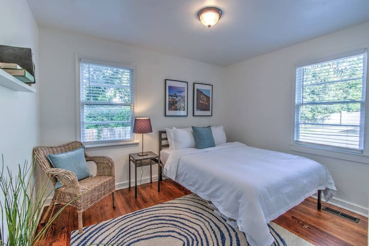 nestle in to your new cottage you can call home for your time in Memphis. You'll find it very peaceful in the gated area amongst the trees and shrubbery but super close to all the action of midtown
