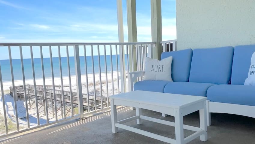 Gulf Front Condo! Beach Views! Large Community Pool! - Coastal Condo at Commodore's Retreat