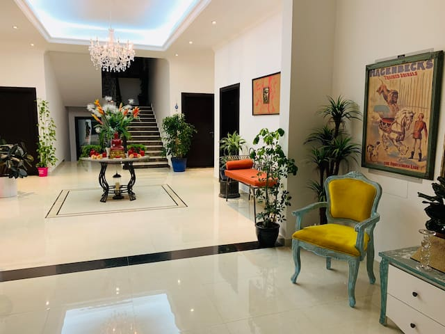 Clean room in a luxury villa for an executive