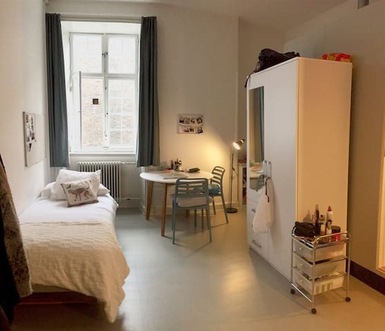Solo-travellers studio in the city center - København - Dorm
