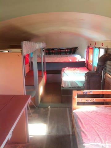 Bus House Hostel in Taos, cabin #1