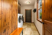 Full laundry service in the mudroom.