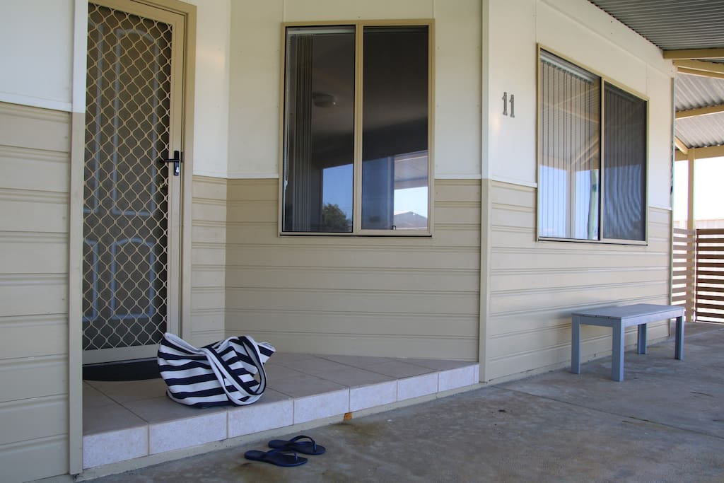 Verandahs wrap around most of the house. The front verandah is a great place to enjoy the sea breeze.