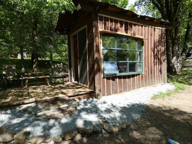 "Camping Cabin #1  ""Riverbend"" ."