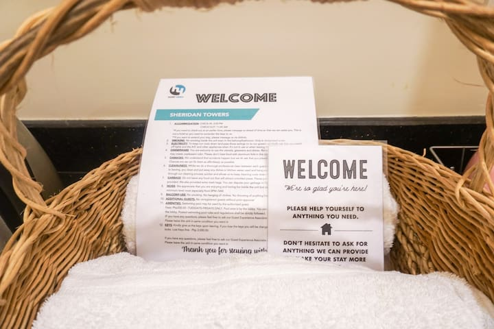Two Complimentary Towels for use