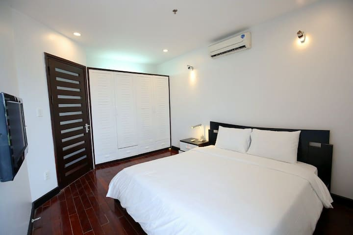 Warmly and nature light come in bedroom