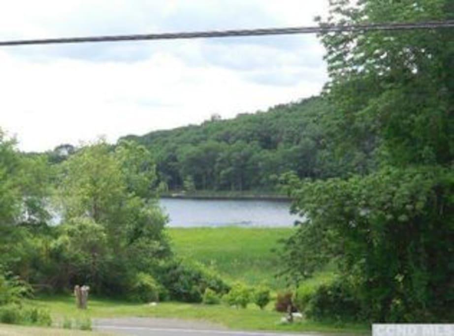 lake across street- boating, fishing, swimming, gazing
