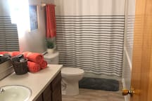 Nice bathroom for you!! This bathroom is SOLELY for guests and not shared with anyone else.