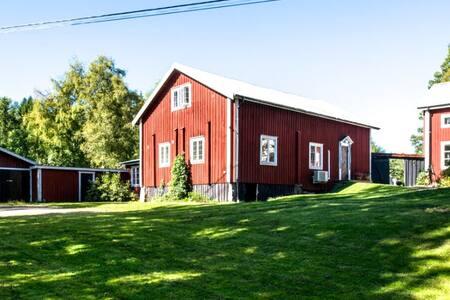 Lantligt hus i Hälsingland