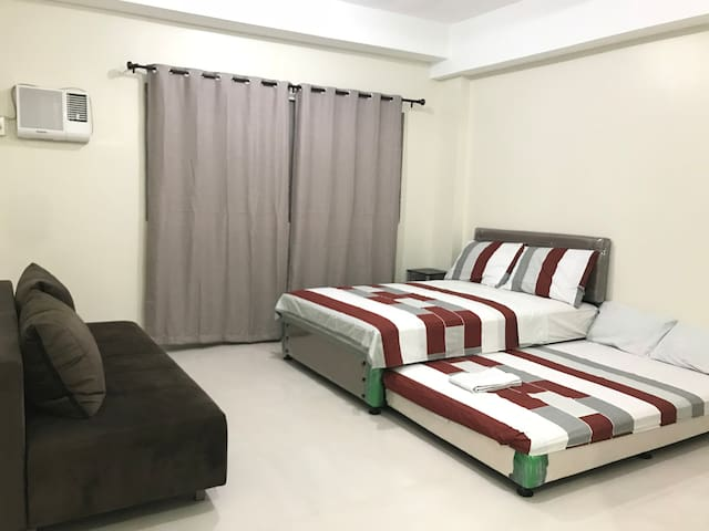 """2 double beds with 8"""" thick premium quality mattress"""