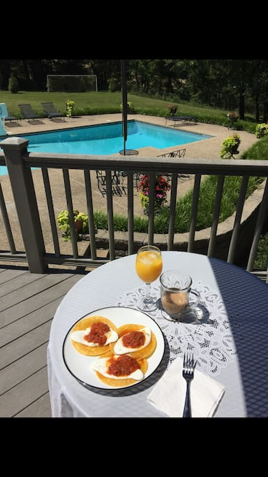 Have your breakfast on the deck