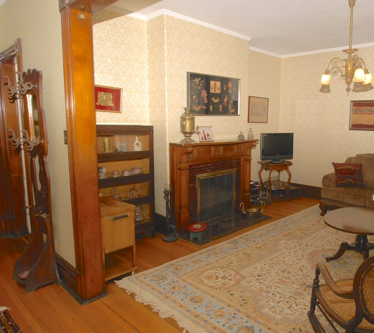 front parlor and sitting room