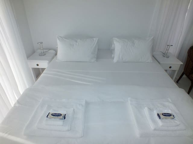 Your king-size extra length bed awaits you.