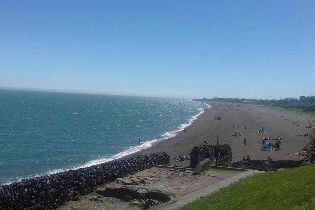 The walk from my house to Greystones. It is a 5 klms  to the harbour with a selection of cafes and shops