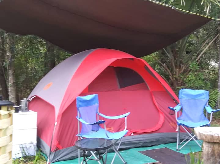 Flatwoods Tent + Private Firepit and Campsite