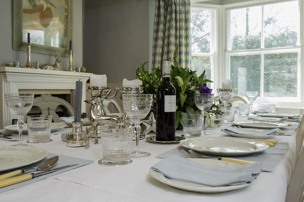 If you book a very Special dinner party - upto 10 guests, we allow you to use our main dining room - this is only for guests who are booking a formal dinner party! Otherwise it is locked off from guests.