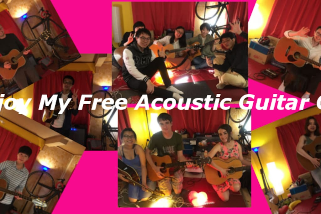 My Free Acoustic Guitar Gig photo. More than 100 guests enjoyed my gig.  (^-^)k
