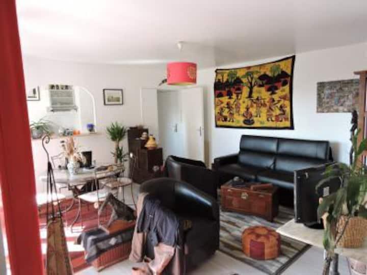 Appartement 55m Saint Denis avec grand balcon 15m2