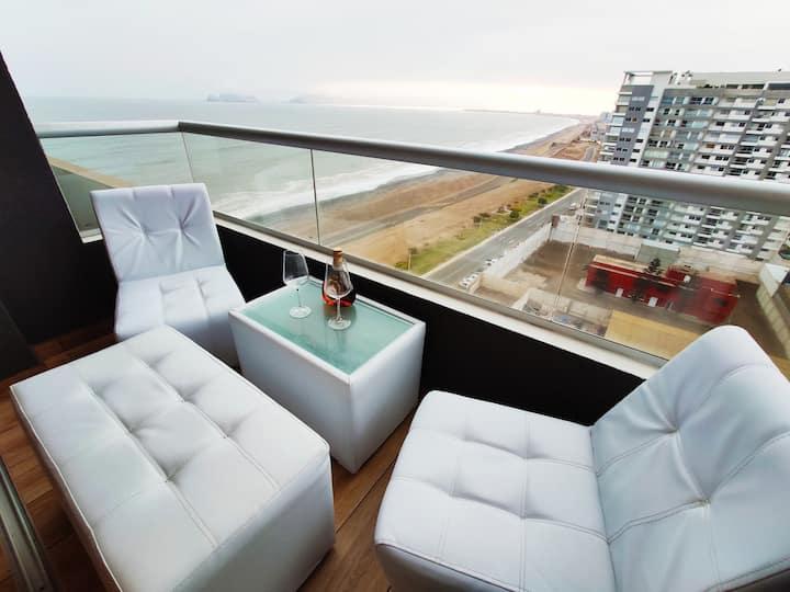 Apartamento Super Romantico+Vista al Mar+CamaQueen