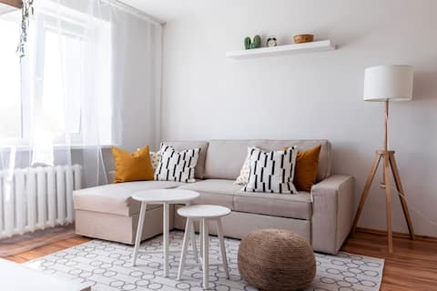 Sunny Apartment in Liepaja center