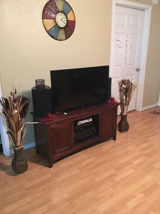 Living room TV with cable