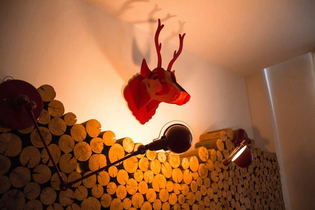 鹿头是掌柜自己做的,感兴趣的同学可以跟掌柜要图纸
