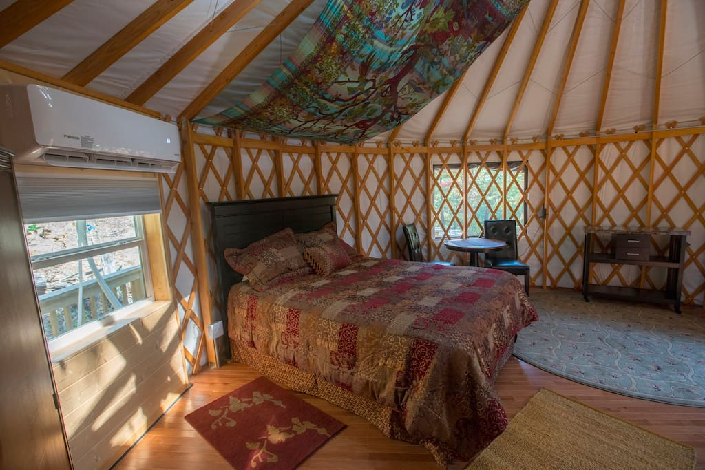 Namaste Yurt Best Of Both Worlds Yurts For Rent In