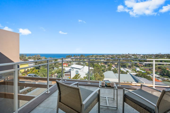 Enjoy the private master bedroom balcony with these amazing views