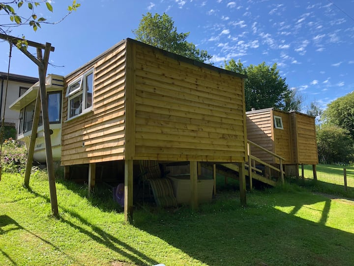 Private rural centrally heated static caravan