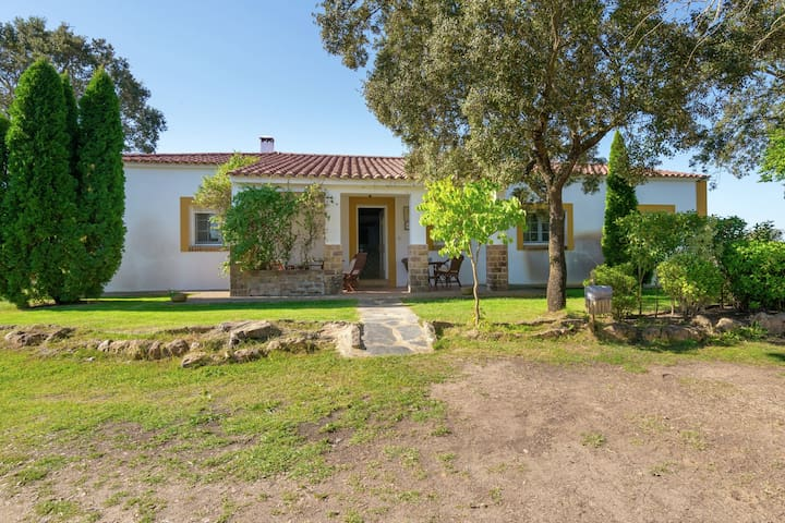 Cozy Holiday Home in Herrera de Alcántara with Swimming Pool