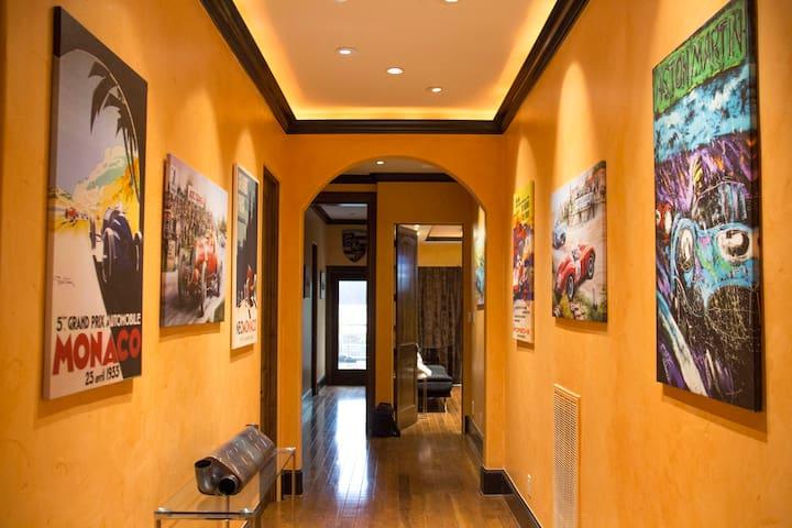 Upstairs Hallway to Master Bedroom and Balcony