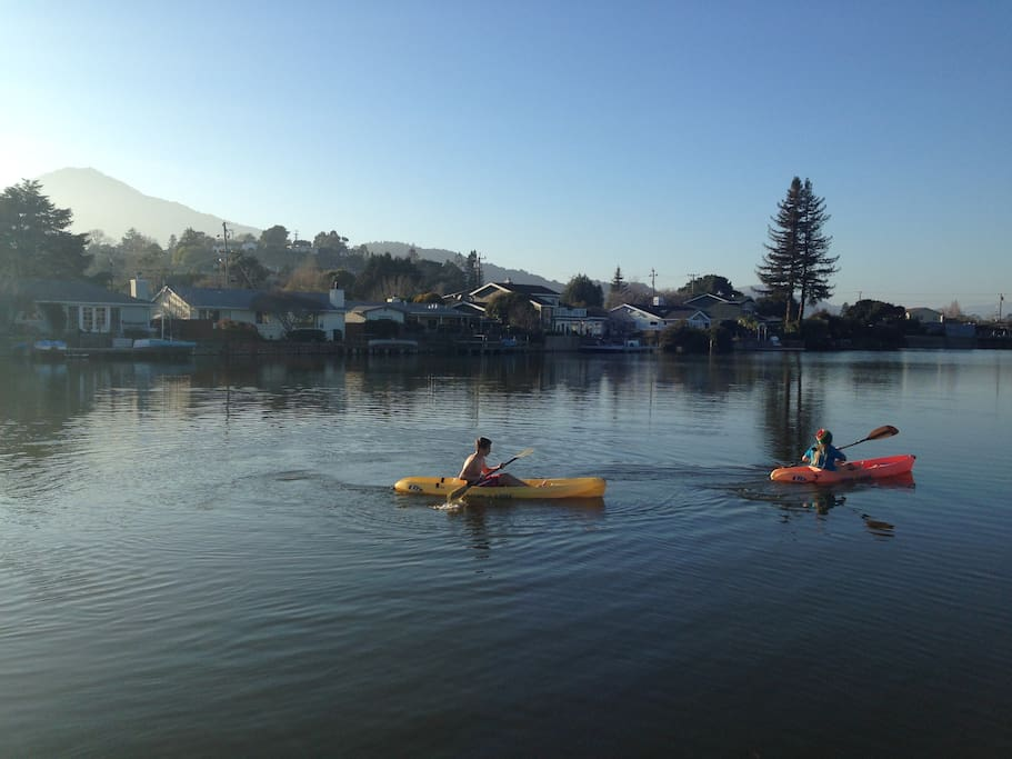 We have 4 sit on top kayaks. Our home is right on the lagoon. You can use kayaks to explore the lagoon.