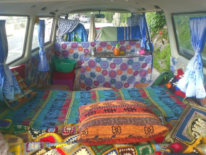 Hippy Van in Cinque Terre